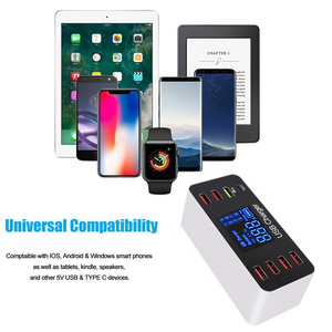 Image 5 - 40W Quick Charge 3.0 Smart 8 Ports USB Charger Station LED Display Fast Charging Power Adapter Desktop Strip For iPhone SAMSUNG