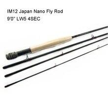 Aventik IM12 9ft LW3 LW4 LW5 LW6 Japonia Nano Fly Fishing Rod Super Lekki Fly Rod