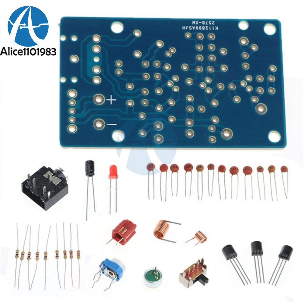 Wireless Stereo Fm Radio Receiver Module Pcb Diy Electronic Kits Circuit Production Project Suite Board Microphone Transmitter 15 9v 76 108mhz 20hz