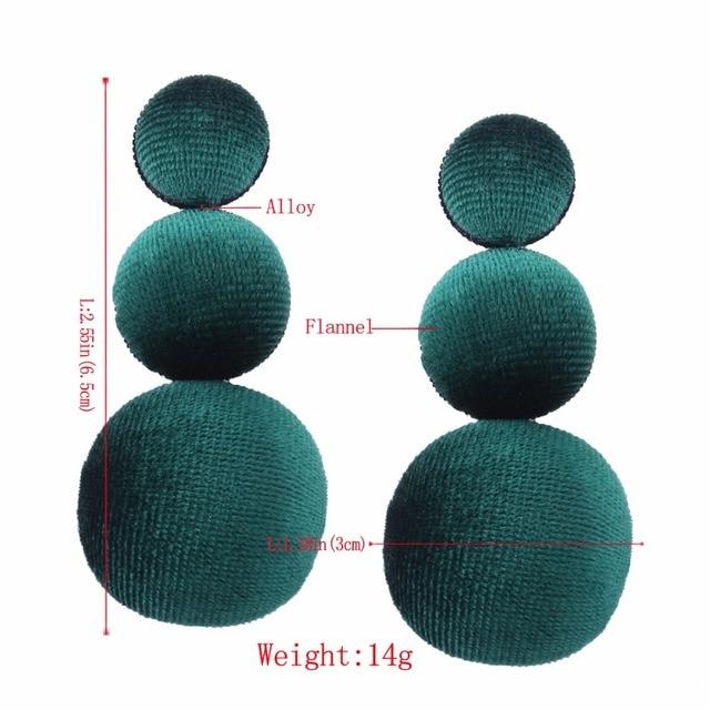 Купить lzhlq бренд 2021 новые модные бархатные серьги зеленый шар длинные