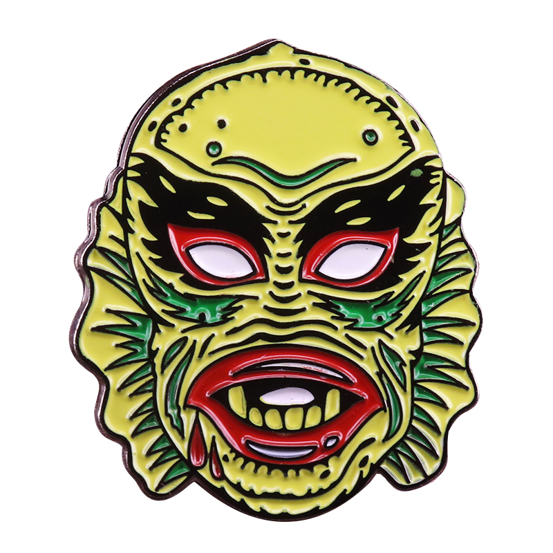 The creature from black lagoon pin universal monsters badge classic horror movie lover gift