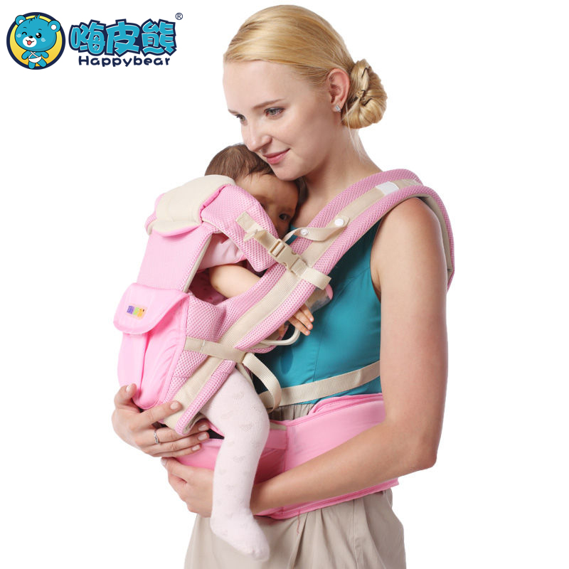HappyBear manduca Breathable Multifunctional hipseat 9 in 1 Ergonomic Baby Carrier 360 Kangaroo Baby Wrap Sling for Babies breathable baby carrier backpack portable infant newborn carrier kangaroo hipseat heaps sling carrier wrap