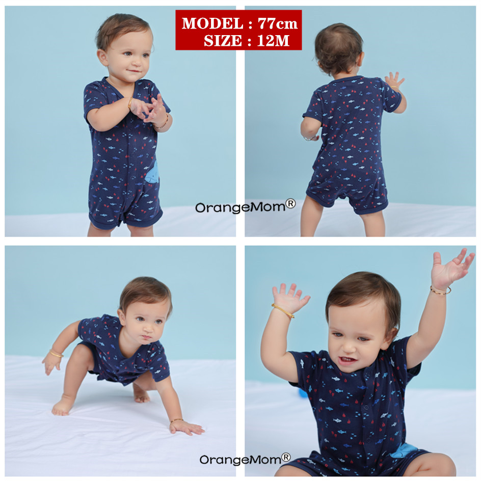 Orangemom official store Summer boys baby clothing Short Jumpsuit Newborn Romper Baby Boy Clothes infant roupas
