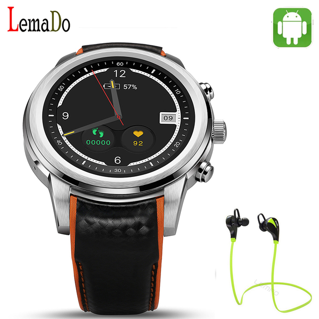 Lemado LEM5 Android 5.1 OS Smart Watch 1.39 дюймов MTK6580 1 ГБ/8 ГБ Smartwatch Поддержка 3 Г Wi-Fi GPS Nano SIM карты