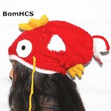 BomHCS Funny Colour Goldfish Carp Beanie Handmade Knitted Winter Thick Hat Cap Halloween Christmas Gift все цены