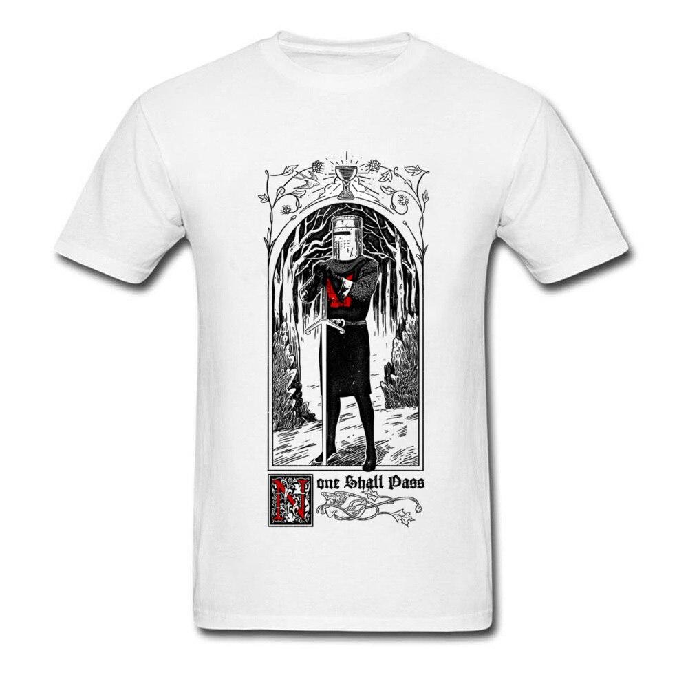 None Shall Pass T-shirt 2018 Summer Mens White T Shirt Cotton Fabric Clothing Warrior Tshirt Artist Tops Hip Hop Man Tee