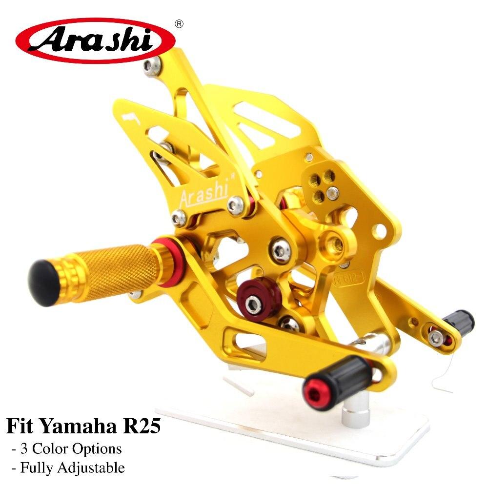 Arashi 1 Set Rider CNC Réglable Repose-pieds Pour YAMAHA R 3 R 25 YZF R3 R25 2015 2016 2017 2018 Pegs Pied Arrière Ensembles