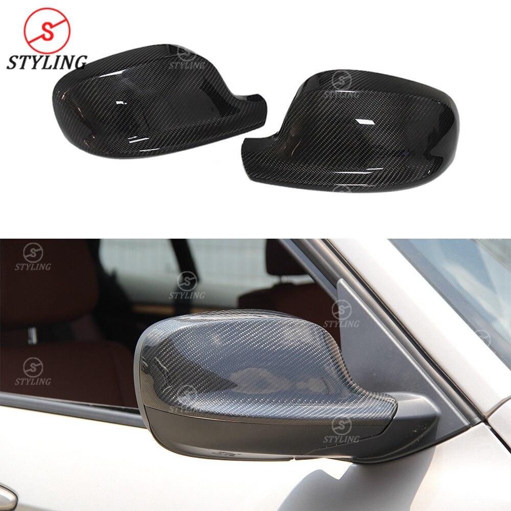 Pour BMW E84 F25 fibre de carbone vue arrière casquettes rétroviseur X1 E84 X3 F25 remplacement & ajouter style miroir 2010 2011 2012 2013