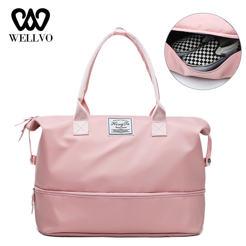Women Travel Bag Fashion Luggage Duffle Bags Nylon Handbags Casual Shoulder Crossbody Bag Large Overnight Weekend Bag XA869WB