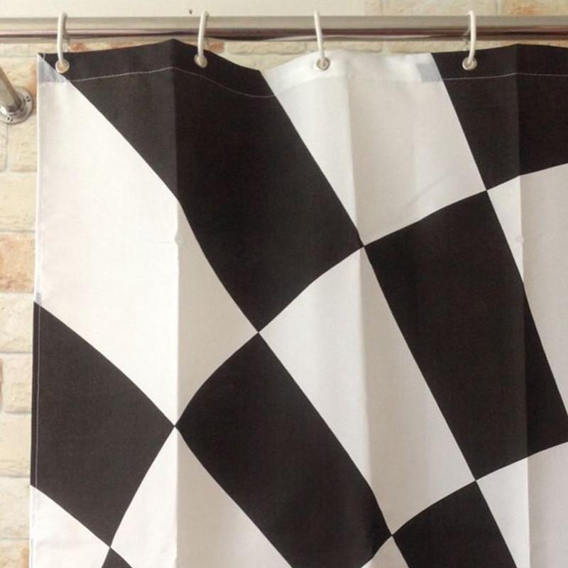 180x180cm Shower Curtain Waterproof 3D Black Hole Bathroom Novelty