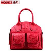 ZOOLER Flower Printing Women Genuine Leather Handbag Tote Famous Brand Luxurious Flower Bag Feminina Women Bags