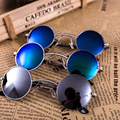 KOTTDO Fishing Eyewear Men Sunglasses Women Metal vintage Round Coating mirrored jawbone Sun glasses male female gafas de sol