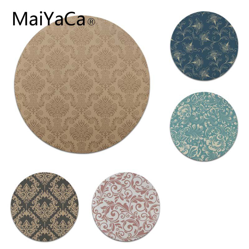 MaiYaCa Funny Euporean Pattern Round Mouse pad PC Computer mat Size for 200x200x2mm and 220x220x2mm Cool Mouse Pads