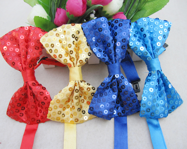 Shinny Adjustable Bow Sequin Tie Bowties For 2018 Women Fashion New aRqwU7U