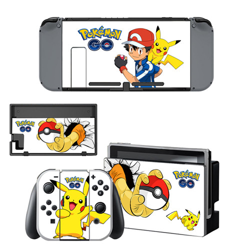 Us 791 12 Offfor Pokemon Go Pikachu Decal Vinyl Skin Sticker For Nintendo Switch Ns Consolecontrollerstand Holder Protective Film In Stickers
