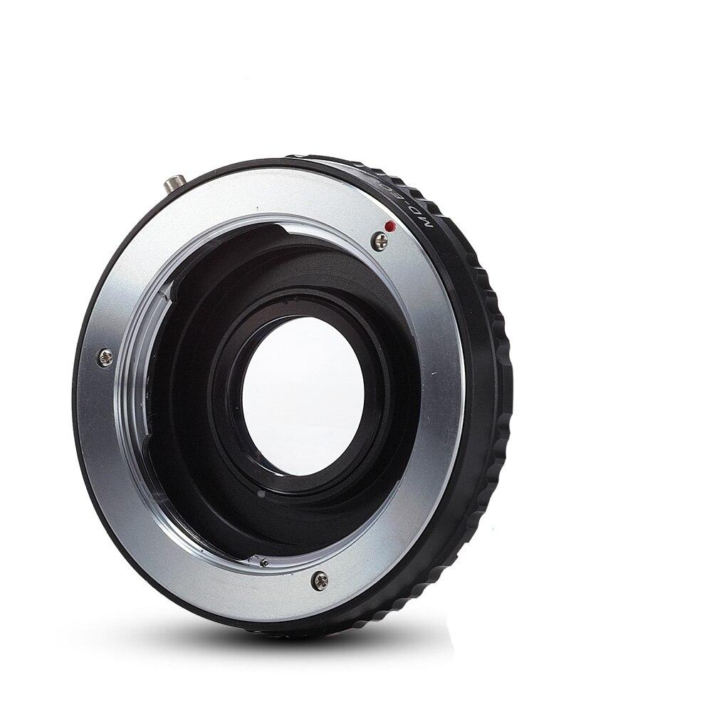 Adaptateur d'objectif Minolta MD MC avec mise au point infinie en verre optique pour appareil photo Canon EOS DSLR 1200D 750D 700D 650D 600D 5D II