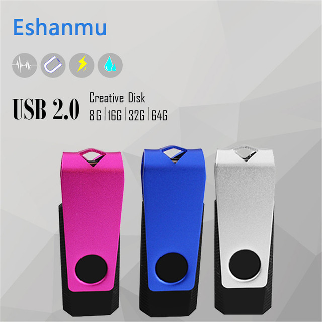 Grote promotie 100% real capaciteit pendrive usb stick 4G 8G 16G32G64G Swivel USB Flash Drive figuur USB Flash drive memory stick