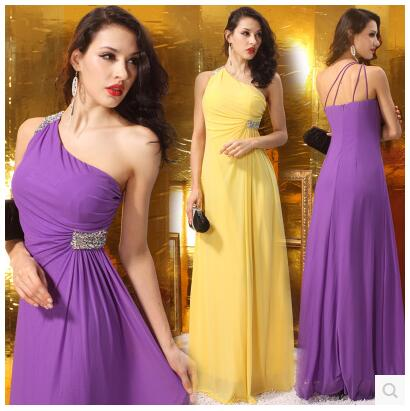 LGF New female double cloth One shoulder halter Dress high-end hand-beaded dress sexy Nightclub Slim stylish
