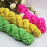 480グラム/ロット10ボールかぎ針編み赤ちゃんアクリル糸安い糸編み物用環境に優しい染めグリッターウールかせgaren laine a tricoter