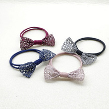 Current Cute Hollow Ribbon Bow Hair Ties Elastic Hair Bands Sweet Hair Ropes For Girls Ponytail Holder Tie Hair Accessories akwzmly 20 pcs girls headband flower hair elastic bands scrunchy ponytail holder accessories bow animals pattern ropes ties