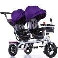 As crianças triciclo Gêmeo carrinho de Três rodas-carrinhos carrinhos de bebê Gêmeo de carro do bebê da bicicleta