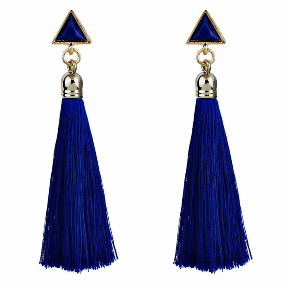 Богемный 1 пара 9 см женские этнические Висячие серёжки с кисточками из ниточек новый модный дизайн, очень популярный. Функция