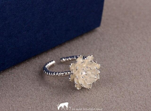 Питания 925 серебряное кольцо горячая распродажа обручальное кольцо для  женщин стали 18 К золотые украшения лотос 19aa501c603