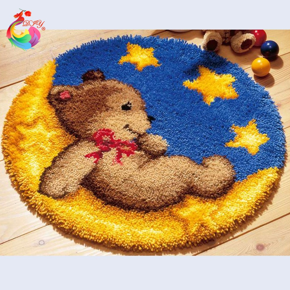 Enganchada alfombra de lana de los clientes compras en for Alfombras hechas con lana