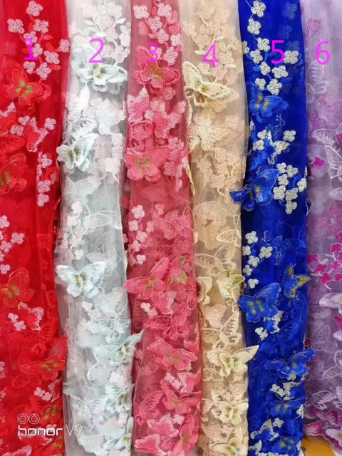 BZL-10731 Beautiful butterfly lace fabric for wedding dress nigeria lace  fabrics african tulle net lace. Price  4ccf26fd927e