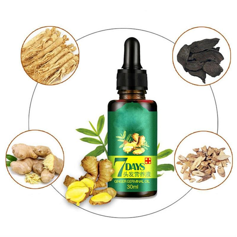 30 ML Effective Fast Growth Hair Serum Essence Oil ReGrow 7Day Ginger Germinal Hair Growth Serum Hairdressing Oil Loss Treatemen