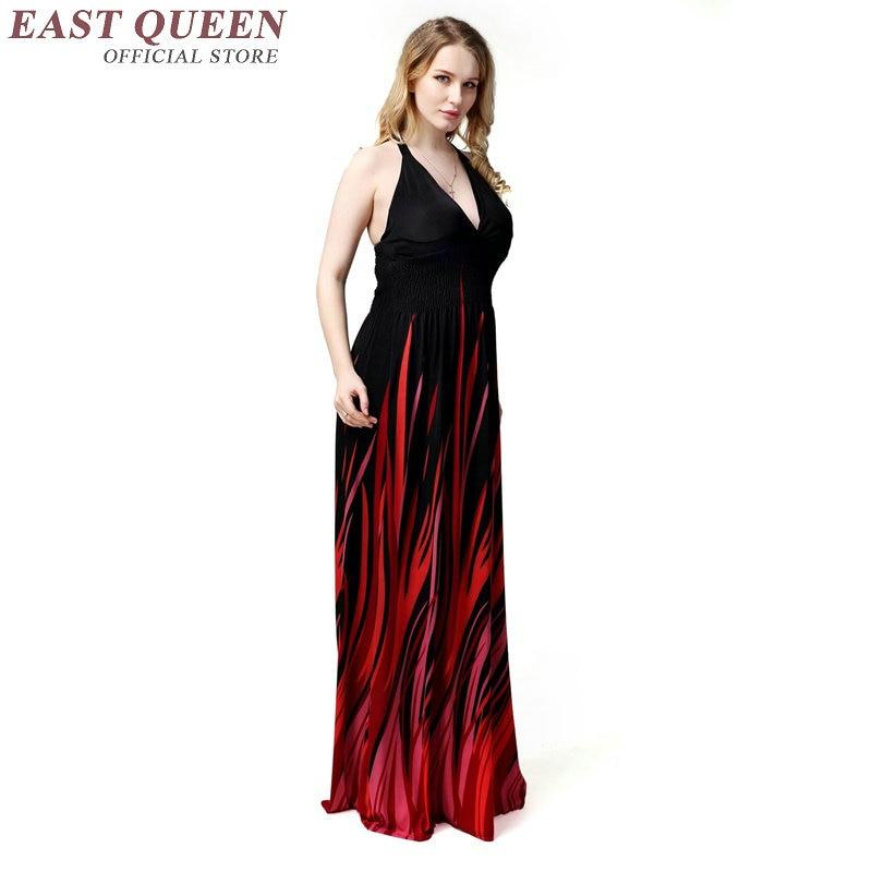 Hippie maxi robes femme hippie bohème style été maxi robe boho plage robes de soleil plage tuinc robe KK1084