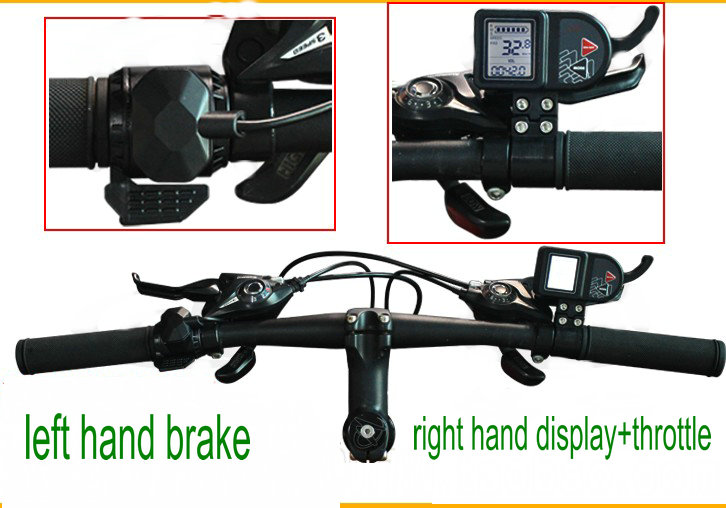 left hand shifter + right hand display