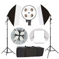 Photography Softbox Light Continuous Lighting Kit Photo Equipment Soft Photo Portrait Studio&PVC1.6*2M background& 4 Lamp Holder