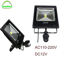 LED Motion Sensor Floodlights PIR Flood Lights 10W 20W 30W 50W DC12V Induction Sense Reflector 220V