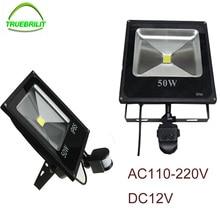 LED  Motion Sensor Floodlights PIR  Flood lights 10W 20W 30W 50W   DC12V Induction Sense Reflector 220V Outdoor Spotlights IP65