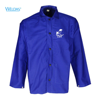 FR Cotton Welding Jackets Fire Resistant Cotton Coverall Sweat Absorbing Breathable Flame Resistant Work Clothing