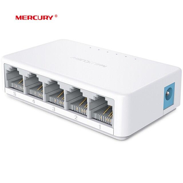 MERCURY S105C Ethernet Anahtarı, Mini 5 Port Masaüstü Ethernet Ağ Anahtarı, 10/100 Mbps LAN Hub, küçük, Tak ve Çalıştır, Kolay Kurulum