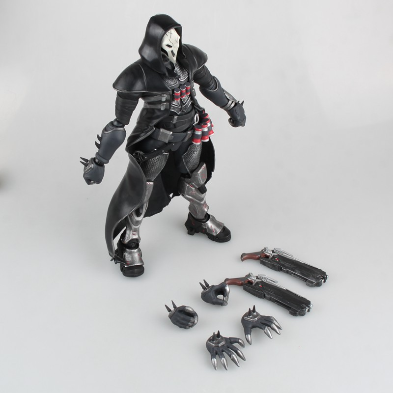 Huong Game Figure 28CM REAPER Movable PVC Action Figure Gift Collectible Model Toys Doll huong game figure 35cm hanzo pvc action figure collectible model toys doll gift