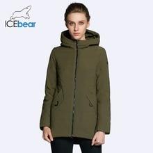 ICEbear 2018 new women s jacket autumn woman coat fashion female cotton denim color zipper design