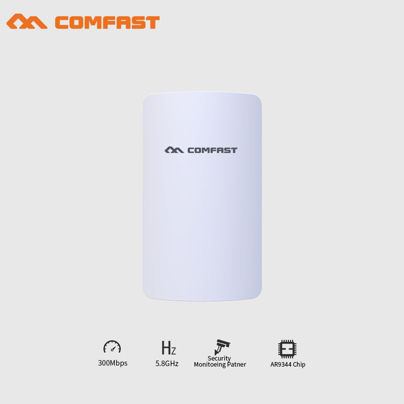 2pcs Comfast 300Mbps 5.8Ghz  wireless bridge mini cpe with Antena wi-fi wireless router wifi extender repeater signal amplifier