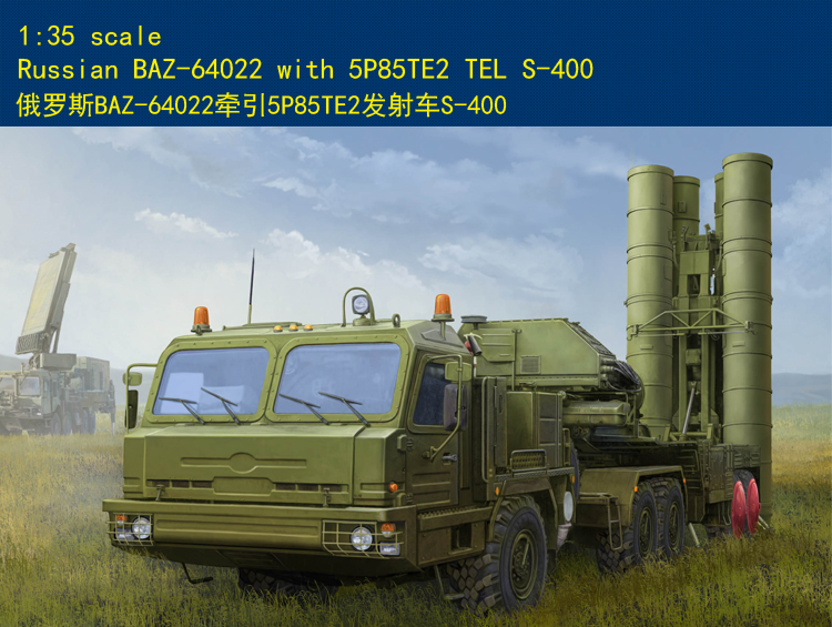 Hobby Boss 1/35 85517 Russian BAZ-64022 with 5P85TE2 TEL S-400 plastic model цена