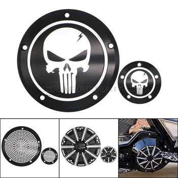 Motorcycle Skull Derby Timer Clutch Timing Cover For Harley Touring Street Glide Road King Dyna FXDC Softail Heritage Fat boy - DISCOUNT ITEM  7% OFF All Category