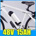 48V 15AH чайник цилиндрический алюминиевый сплав литиевый аккумулятор  54 6 V электрический велосипед скутер E-bike Бесплатная доставка