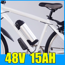 48V 15AH Kettle Cylindrical Aluminum alloy Lithium Battery Pack , 54.6V Electric bicycle Scooter E-bike Free Shipping