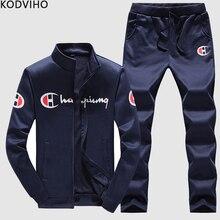 03868a2c903 Tracksuit Men Track Suit Mens 2 Piece Clothes Set Mannen Sportwear  Trainingspak Outfit Tracksuits Sets Chandal. 3 Colors Available