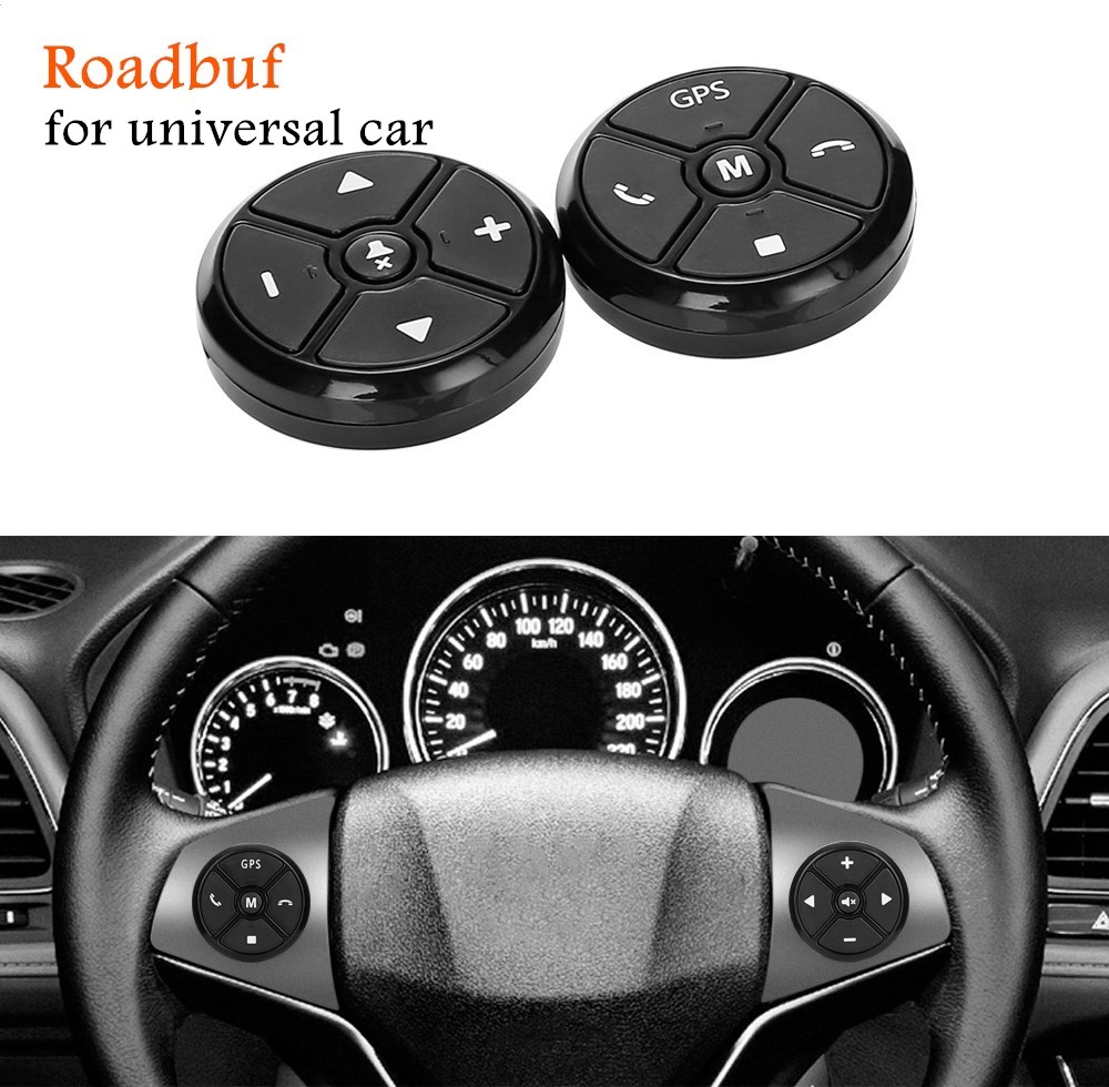 Black Universal Car Steering Wheel Control Key Music Wireless DVD GPS Navigation Car Steering Wheel Radio Remote Control Buttons цена 2017