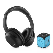 NiUB5 Active Noise Cancelling Bluetooth Headphones with Wireless Stereo Headset Deep bass Headphones with Microphone for