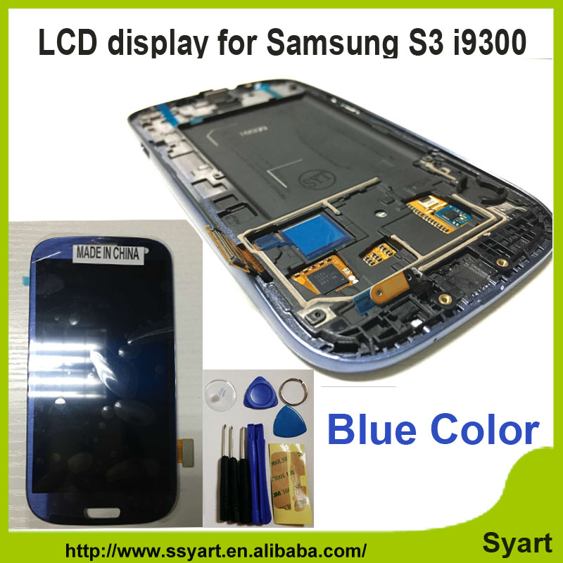 Здесь можно купить  Drawing blue Color lcd LCD Display Touch Screen Digitizer Glass Assembly Replacement with frame For Samsung  S3 SIII I9300 Drawing blue Color lcd LCD Display Touch Screen Digitizer Glass Assembly Replacement with frame For Samsung  S3 SIII I9300 Компьютер & сеть