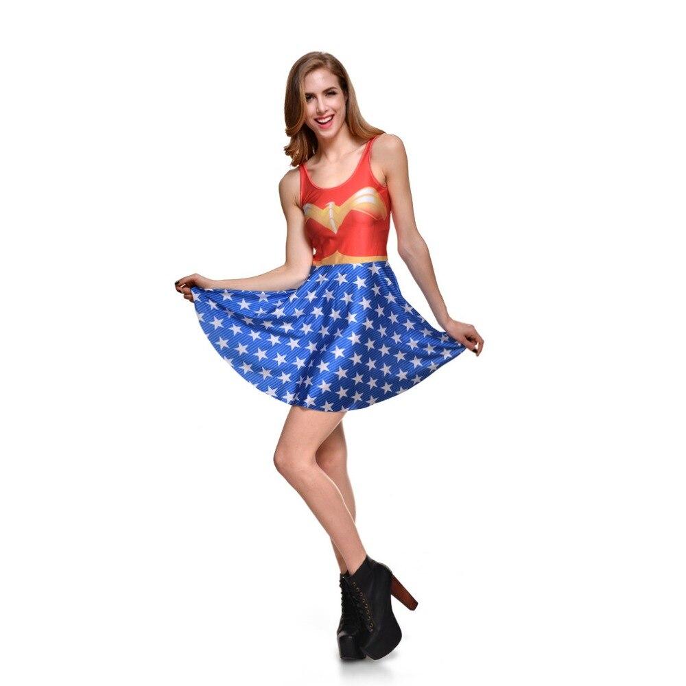 Wonder Woman Princess Diana Dresses Costumes European and American Halloween Sailor Moon Cosplay Anime Costume Umbrella Skirt