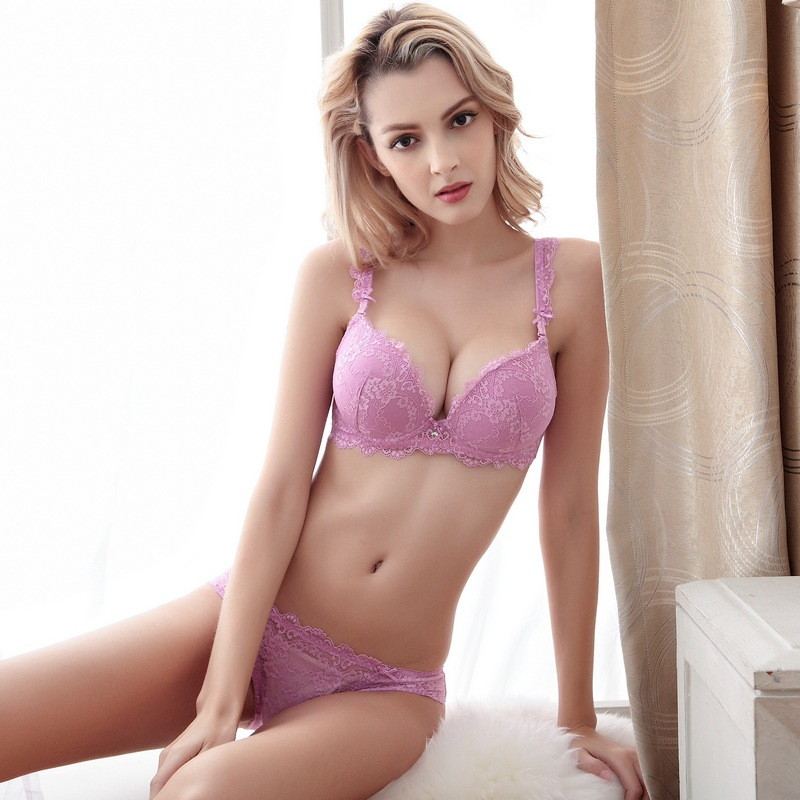 9ff922a2b79 TAINY New Brand Women Underwear Lingerie Girl Push Up Adjustable Sexy Lace  Bra Brief Sets-in Bra   Brief Sets from Underwear   Sleepwears on  Aliexpress.com ...